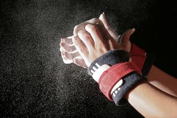 Foto auf Leinwand Gymnastik Vorbereitung