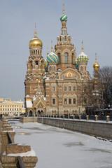 Die Kirche Erlöser auf dem Blute in St. Petersburg
