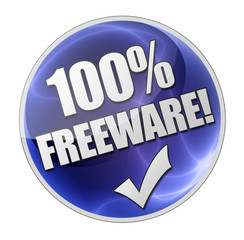 100% Freeware! Button