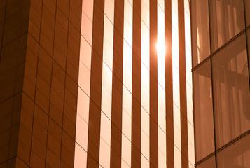 façade de building au soleil