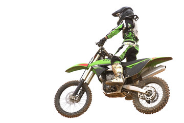 Motocross Isolated