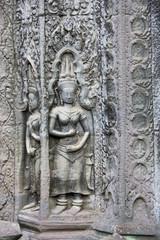 Ta Prohm Temple Bas-Relief, Cambodia