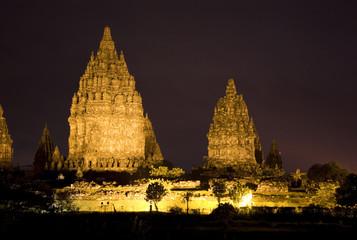 Fototapete - Prambanan Temple at Night, Yogyakarta, Indonesia