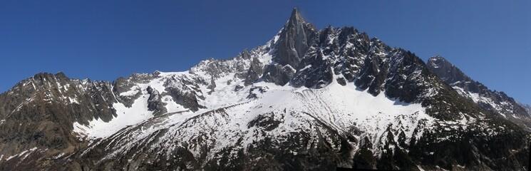 Panorama Drus et Grands Montets vu du Montenvers