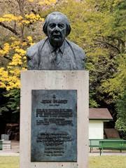 Aluminium Prints Historic monument Buste de Jean Piaget (Genève)