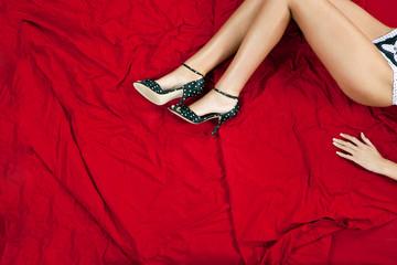 Model Lying on Bed