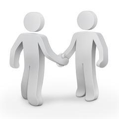 3d character men handshake