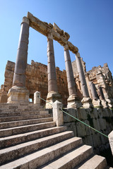 Roman Columns and Stairway, Baalbeck, Lebanon