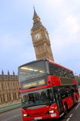 Foto op Aluminium Londen rode bus Big Ben