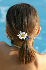 une pâquerette dans les cheveux au bord de l'eau 2