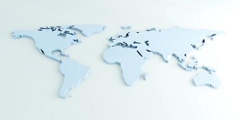 3D Weltkarte