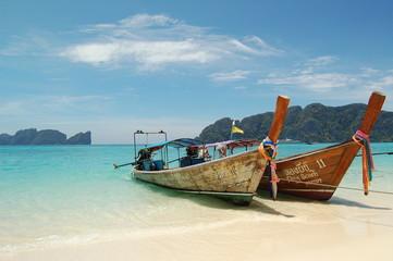 Long Tail Boat à Koh Phi Phi