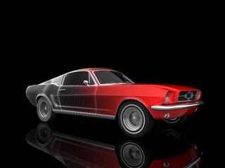 Papiers peints Rouge, noir, blanc auto isolated
