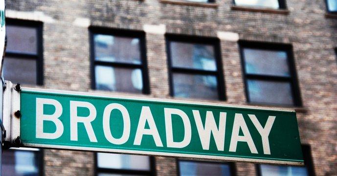 Broadway street sign in Manhattan, New York