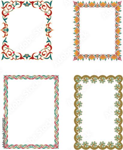 Oriental Islamic Arabic Frames and Borders\