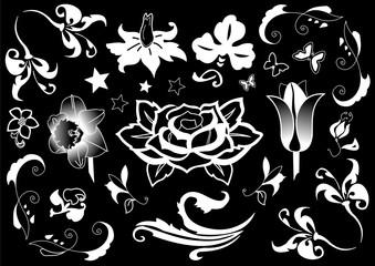Ornamente und Design als Vektor der Flora