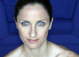 portrait of a female with blue eyes