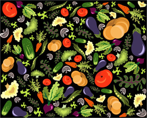 Vegetable pattern background