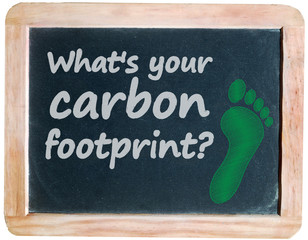 """What's your carbon footprint?"" on blackboard II"
