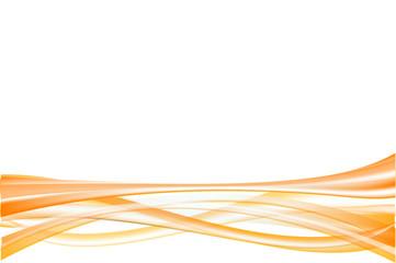 abstract flow line - orange
