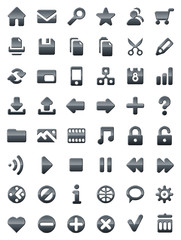 Metal icons for web sites and multimedia applications