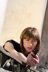 Female agent shooting