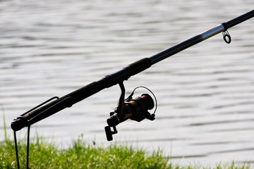 Fishing rod at the lake