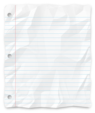 Student Writing Paper - Lined and Three-Hole Punched