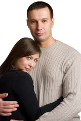 Portrait of happy young couple.