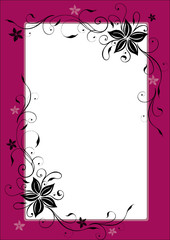 Bordeaux Rahmen mit filigranen Blüten