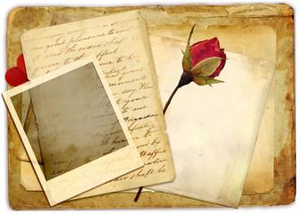 romantic retro background with rose