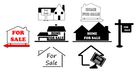simple signs for selling house