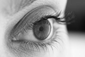 Black and White Human eye