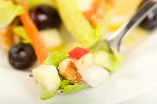 Endive Salad with Walnut and Apple