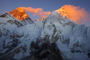 Photo sur Aluminium Népal Top of the world Everest 8848m and Nupse 7864m