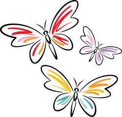 Butterflies (Vector)