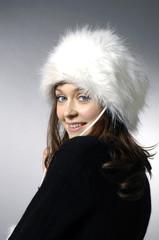 beautiful models, dressed in winter