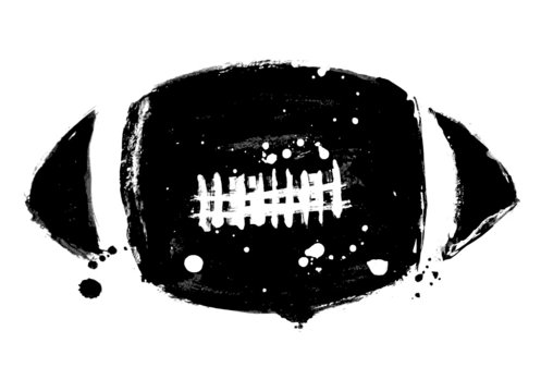 grunge football vector