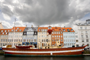Floating lighthouse moored at Nyhavn