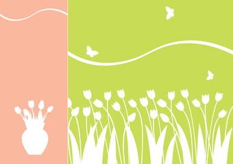 vector tulips background