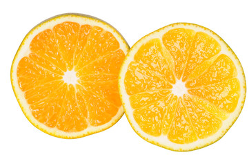 Orange slices. Clipping path.