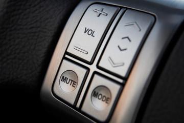 Car audio control buttons