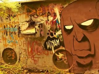 Angry guy graffiti