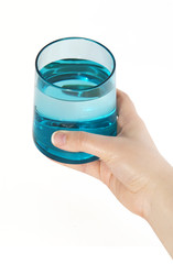 Glass of water with clipping path.