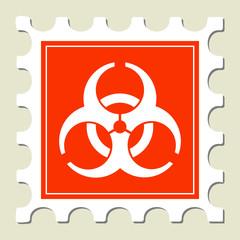 Biohazard Warning Sign Stamp