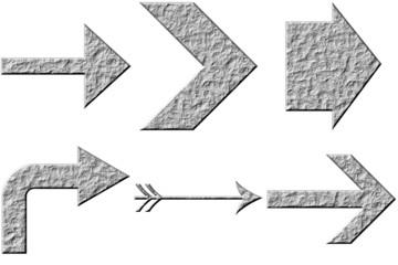 3D Stone Arrows