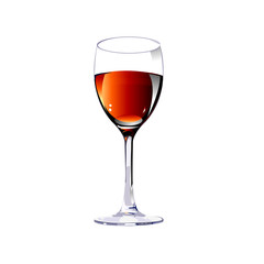 glass with wine.Vector illustration