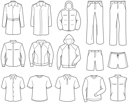 Men's casual clothes and sportswear