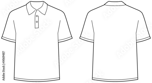 u0026quot polo shirt  u2013 front and back view u0026quot  stock image and royalty