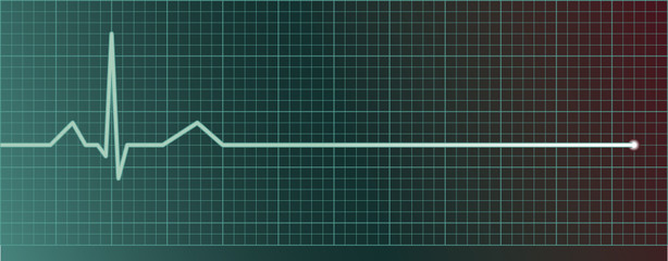 Heart pulse monitor with flatline